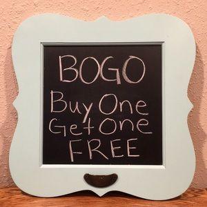 BOGO - BUY ONE GET ONE FREE